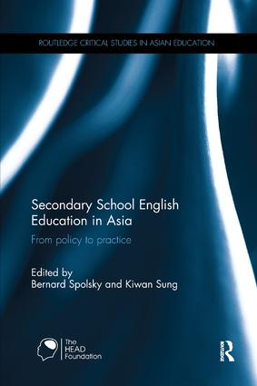 Secondary School English Education in Asia: From policy to practice book cover