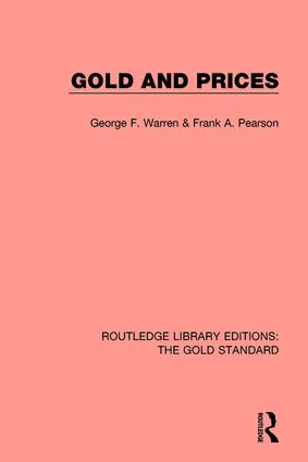 Gold and Prices: 1st Edition (Hardback) book cover
