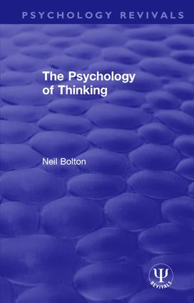 The Psychology of Thinking book cover