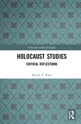Holocaust Studies: Critical Reflections book cover