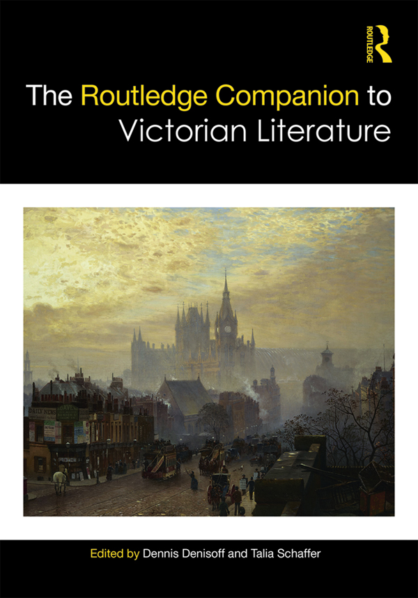 The Routledge Companion to Victorian Literature book cover