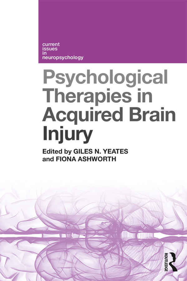 Psychological Therapies in Acquired Brain Injury book cover