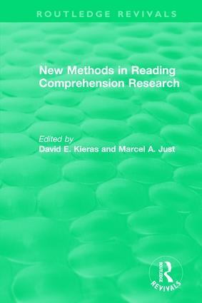 New Methods in Reading Comprehension Research: 1st Edition (Hardback) book cover