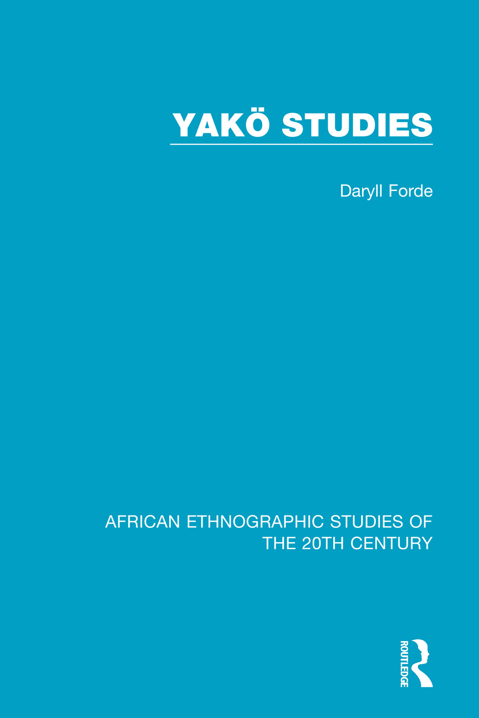 Yakö Studies: 1st Edition (Paperback) book cover