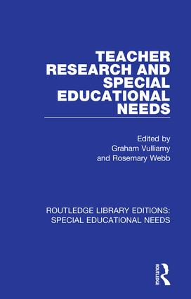 Teacher Research and Special Education Needs book cover