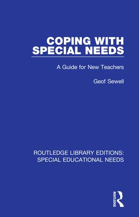 Coping with Special Needs: A Guide for New Teachers book cover