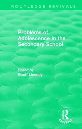 Problems of Adolescence in the Secondary School: An Evaluation of Support Centres, 1st Edition (Hardback) book cover