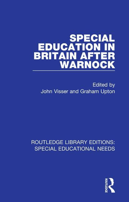 Special Education in Britain after Warnock