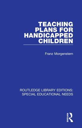 Teaching Plans for Handicapped Children: 1st Edition (Hardback) book cover