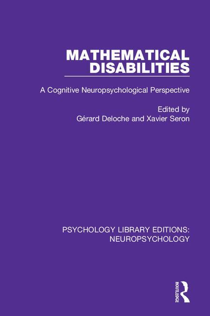 Mathematical Disabilities: A Cognitive Neuropsychological Perspective, 1st Edition (Paperback) book cover