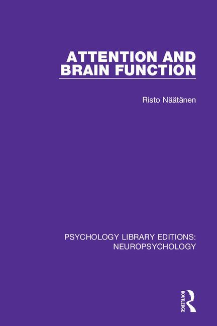 Attention and Brain Function: 1st Edition (Paperback) book cover