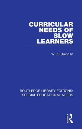 Curricular Needs of Slow Learners book cover