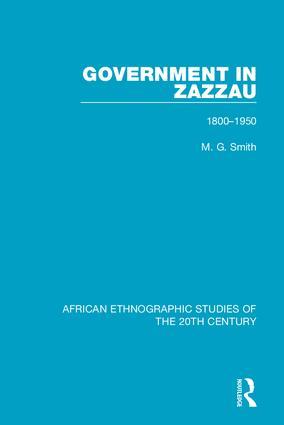 Government in Zazzau: 1800-1950 book cover