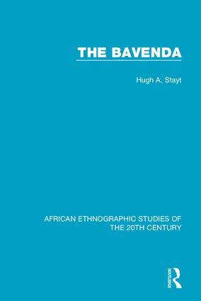 The Bavenda: 1st Edition (Hardback) book cover