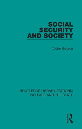 Social Security and Society: 1st Edition (Hardback) book cover