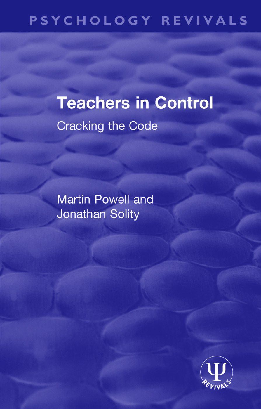 Teachers in Control: Cracking the Code book cover