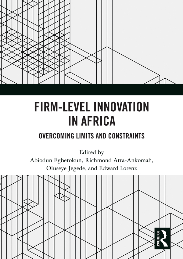 Firm-Level Innovation In Africa: Overcoming Limits and Constraints book cover
