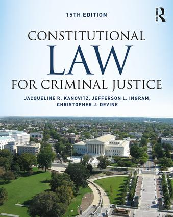 Constitutional Law for Criminal Justice book cover