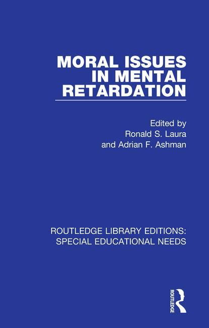 Moral Issues in Mental Retardation book cover