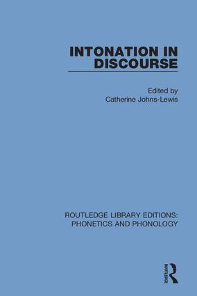 Intonation in Discourse book cover