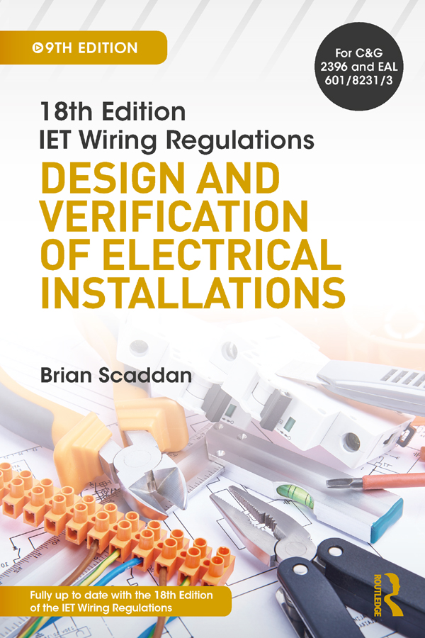 IET Wiring Regulations: Design and Verification of Electrical Installations, 9th ed book cover