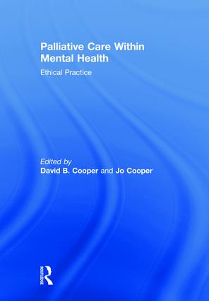 Palliative Care within Mental Health: Ethical Practice book cover
