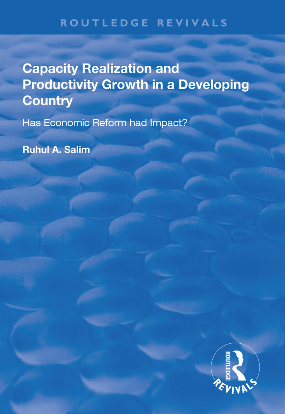 Capacity Realization and Productivity Growth in a Developing Country: Has Economic Reform Had Impact?, 1st Edition (e-Book) book cover