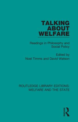 Talking About Welfare: Readings in Philosophy book cover