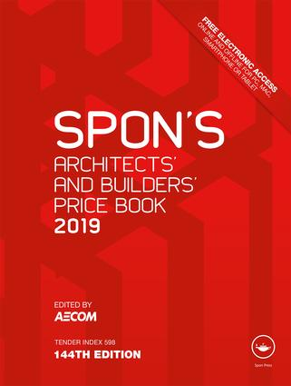Spon's Architects' and Builders' Price Book 2019 book cover