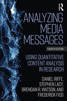 Analyzing Media Messages: Using Quantitative Content Analysis in Research book cover