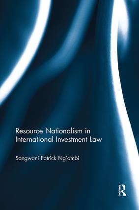 Resource Nationalism in International Investment Law book cover