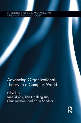 Advancing Organizational Theory in a Complex World: 1st Edition (e-Book) book cover