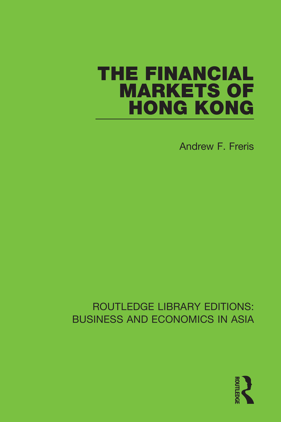 The Financial Markets of Hong Kong book cover