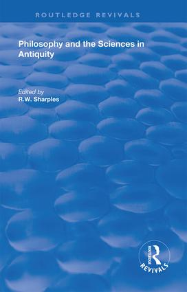 Philosophy and the Sciences in Antiquity