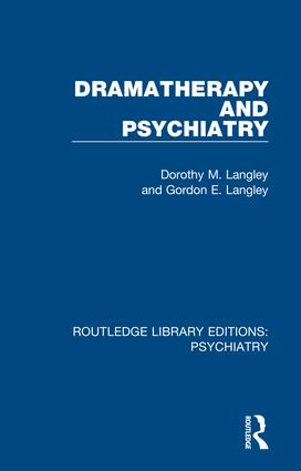 Dramatherapy and Psychiatry book cover