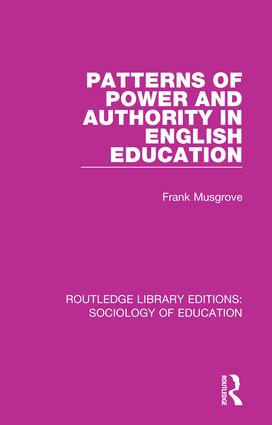 Patterns of Power and Authority in English Education book cover