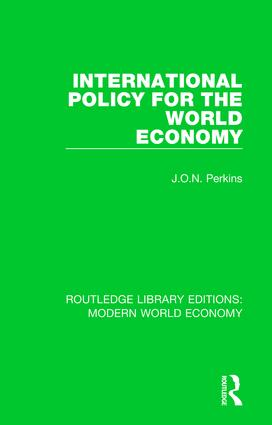 International Policy for the World Economy book cover