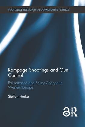 Rampage Shootings and Gun Control: Politicization and Policy Change in Western Europe (Hardback) book cover