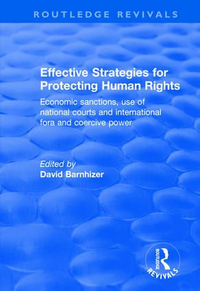 Effective Strategies for Protecting Human Rights: Economic Sanctions, Use of National Courts and International fora and Coercive Power book cover