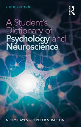 A Student's Dictionary of Psychology and Neuroscience book cover