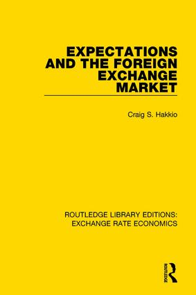 Expectations and the Foreign Exchange Market: 1st Edition (e-Book) book cover