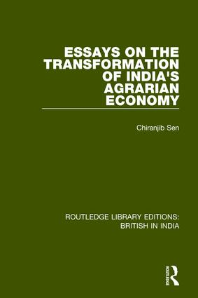 Essays on the Transformation of India's Agrarian Economy book cover