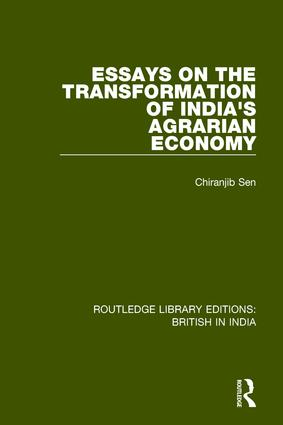 Essays on the Transformation of India's Agrarian Economy: 1st Edition (Paperback) book cover