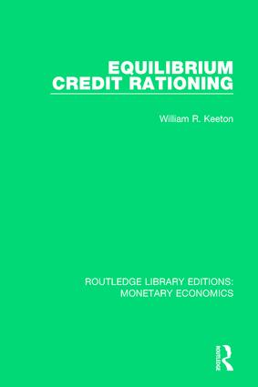 Equilibrium Credit Rationing book cover