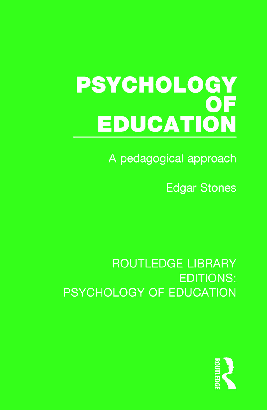 Psychology of Education: A Pedagogical Approach, 1st Edition (e-Book) book cover
