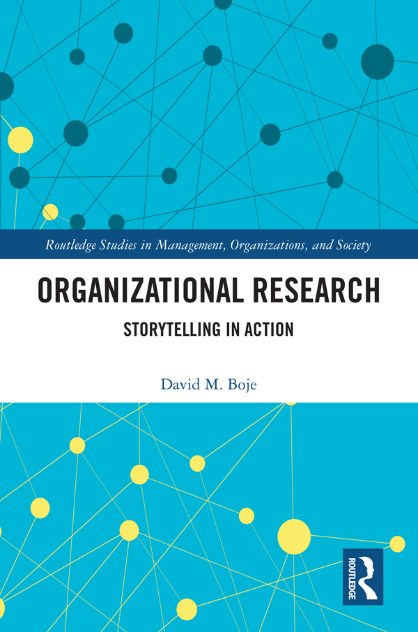 Organizational Research: Storytelling in Action book cover