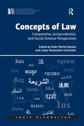 Concepts of Law: Comparative, Jurisprudential, and Social Science Perspectives, 1st Edition (Paperback) book cover