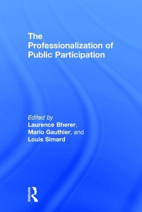 The Professionalization of Public Participation book cover