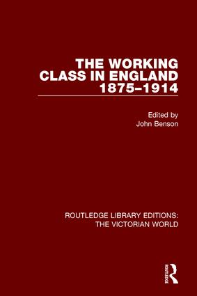 The Working Class in England 1875-1914 book cover