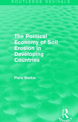 The Political Economy of Soil Erosion in Developing Countries book cover